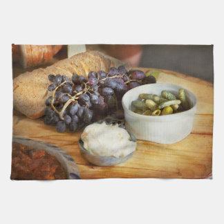 Voedsel - Fruit - Augurken en Druiven Theedoek