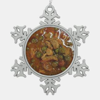 Voedsel van de Straat van Thailand van de Kerrie Tin Sneeuwvlok Ornament