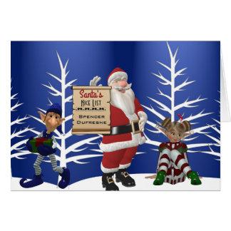 Voeg de Vakantie van Nice van de Kerstman van de Kaart