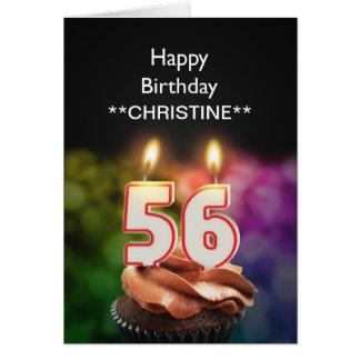 Voeg een naam, 56ste verjaardagskaart toe kaart