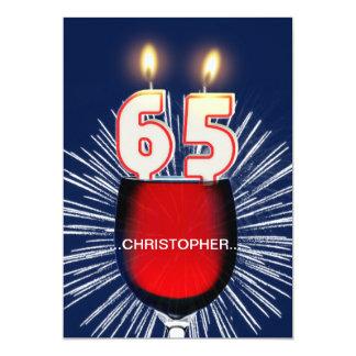 Voeg een naam, 65ste de partijUitnodiging van de 12,7x17,8 Uitnodiging Kaart