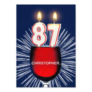 Voeg een naam, 87ste de partijUitnodiging van de 12,7x17,8 Uitnodiging Kaart
