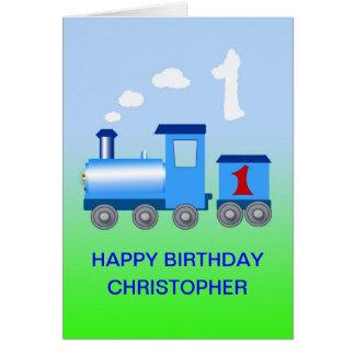Voeg een naam aan een 1st verjaardagskaart toe briefkaarten 0