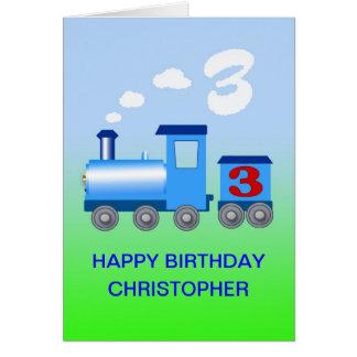 Voeg een naam aan een 3de verjaardagskaart toe kaart