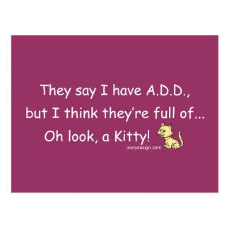 VOEG hoogtepunt van de Humor van het Kat toe Briefkaart