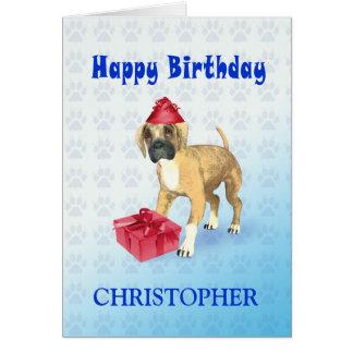 Voeg naamtoa toe een verjaardagskaart met een briefkaarten 0