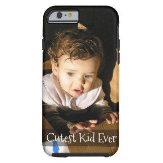 Voeg Pic hier van Uw Schattig Kind toe: Tough iPhone 6 Hoesje