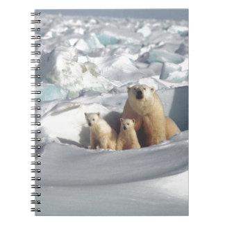 Voeg SLOGAN toe om het Noordpool Polaire Ijs van Notitieboek