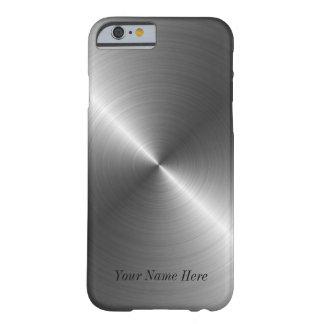 Voeg toe Uw Metaal van het Staal van de Naam Slim iPhone 6 Case