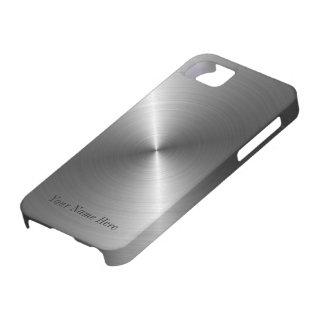 Voeg toe Uw Metaal van het Staal van de Naam iPhon Barely There iPhone 5 Hoesje