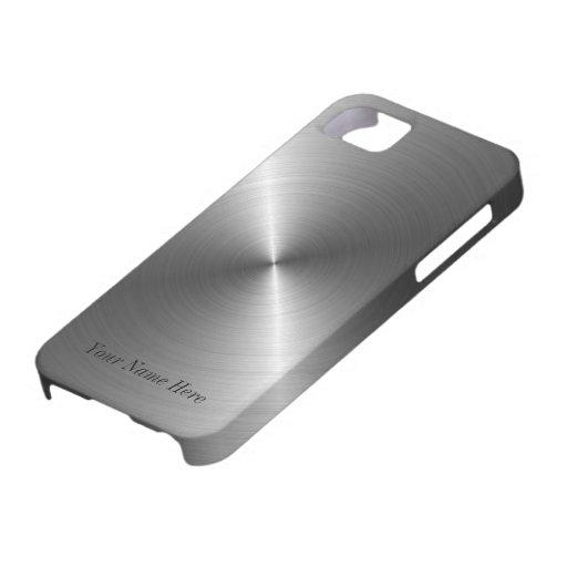 Voeg toe Uw Metaal van het Staal van de Naam iPhon iPhone 5 Cases