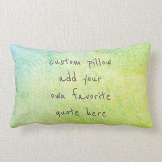 voeg uw blauwgroen het huisdecor toe van het lumbar kussen