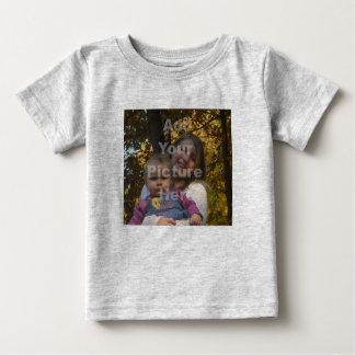 Voeg Uw Eigen T-shirt van het Baby van de Foto toe