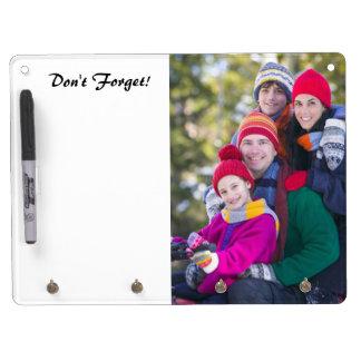 Voeg Uw Foto van de Familie toe om Lijst te doen Whiteboard Met Sleutelhanger