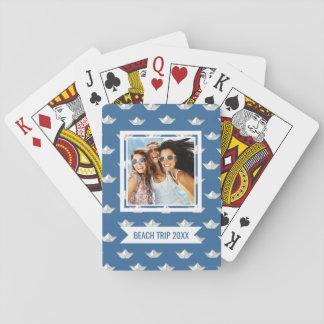 Voeg Uw Naam   de Boten van de Origami toe op het Speelkaarten