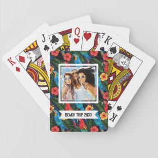 Voeg Uw Naam | het Patroon van de Ara toe en van Pokerkaarten