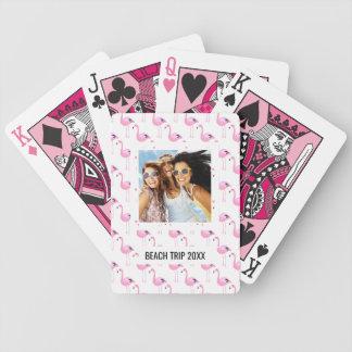 Voeg Uw Naam | Roze toe Flamingo's Poker Kaarten