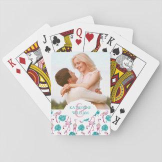 Voeg Uw Naam | Roze toe Flamingo's Pokerkaarten