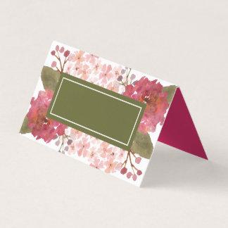 Voeg Uw Paarse Waterverf van de Tekst toe Bloemen Plaatskaart