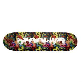 Voeg Uw Samenvatting van Graffiti van de Stad toe 21,6 Cm Old School Skateboard Deck
