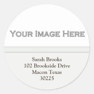 Voeg Uw Stickers van het Adres van het Afbeelding