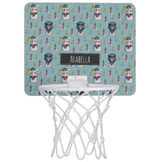 Voegt ZeevaartPatroon   van de kat en van de Hond Mini Basketbalbord