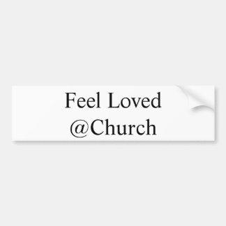 """""""Voel Gehouden van @Church"""" sticker"""
