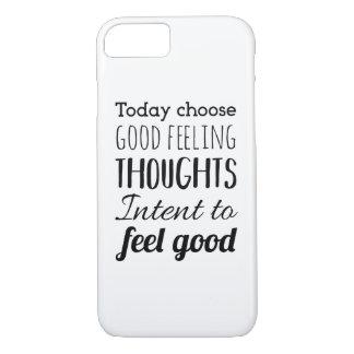 Voel het Goede Citaat Iphone van de Typografie/het iPhone 8/7 Hoesje