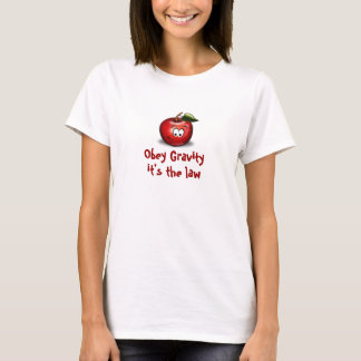Voer de T-shirt van de Ernst met Apple uit
