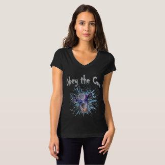 Voer de Telepathische Koe uit T Shirt