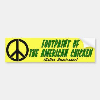 Voetafdruk van de Amerikaanse Kip Bumpersticker