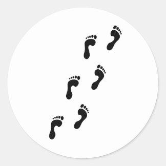 voetafdrukken ronde sticker