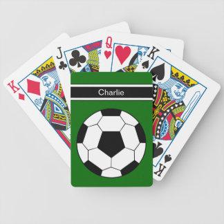Voetbal Gepersonaliseerde Speelkaarten Pak Kaarten