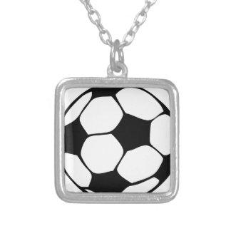 voetbal mamma zilver vergulden ketting