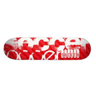Voetbal; Scharlaken Rode Strepen 19,7 Cm Skateboard Deck