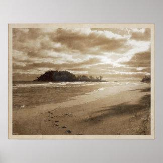 voetstappen in het zand afdrukken posters en kunstwerken online bestellen. Black Bedroom Furniture Sets. Home Design Ideas