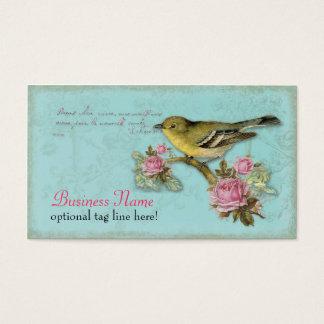 Vogel in de Roze Visitekaartjes van Rozen