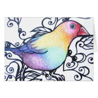 Vogel IV van de liefde de Lege Kaart van de Nota