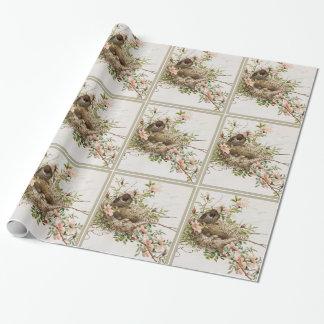 Vogel met Nest Inpakpapier
