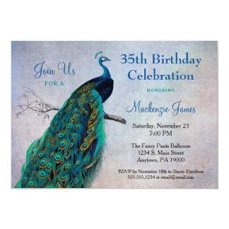 Vogel van de Uitnodiging van de Verjaardag van de