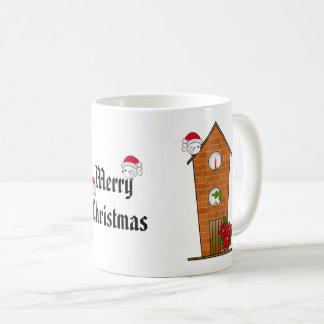 Vogelhuis allen uit Decked voor Kerstmis Koffiemok