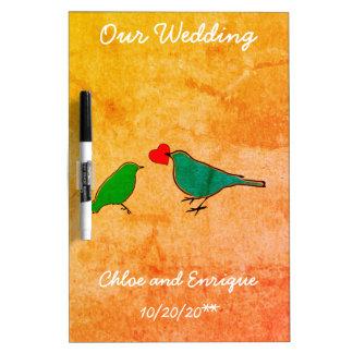 Vogels en het Huwelijk van de Waterverf van het Whiteboard