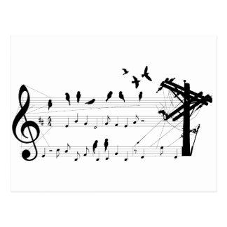 Vogels op een briefkaart van de Score