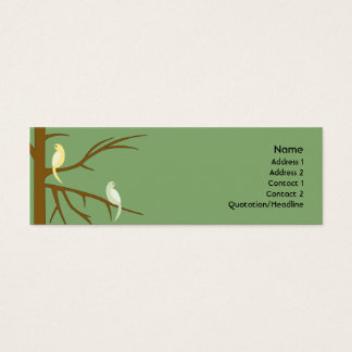 Vogels op een Magere Boom - Mini Visitekaartjes