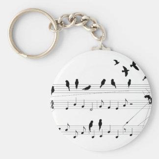 Vogels op een Score keychain Sleutelhanger