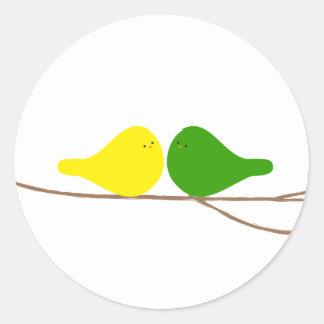 Vogels op een Tak Ronde Sticker