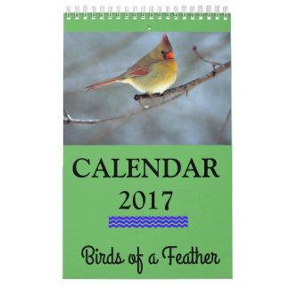 Vogels van een Kalender van de Veer 2017