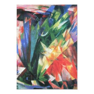 Vogels (Vogel) door Franz Marc, het Vintage Art. 12,7x17,8 Uitnodiging Kaart