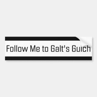Volg me aan het Ravijn van Galt Bumpersticker