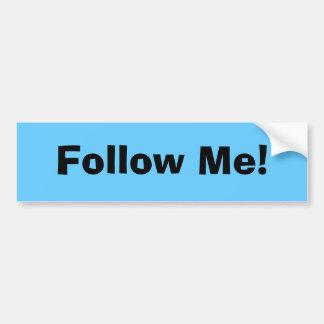 Volg me! bumpersticker